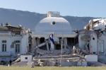Ang Palasyo ng Pangulo ng Haiti matapos ang pagyanig
